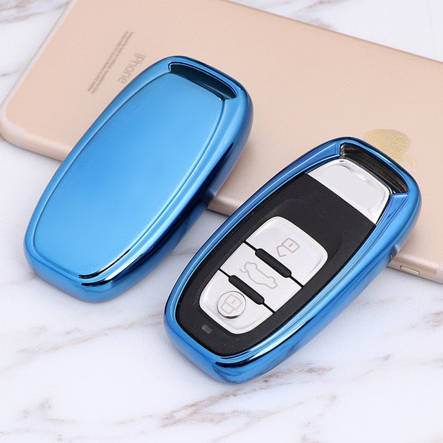 Soft TPU Key Cover for Audi A4 A4L A5 A6 A6L Q5 S5 S7