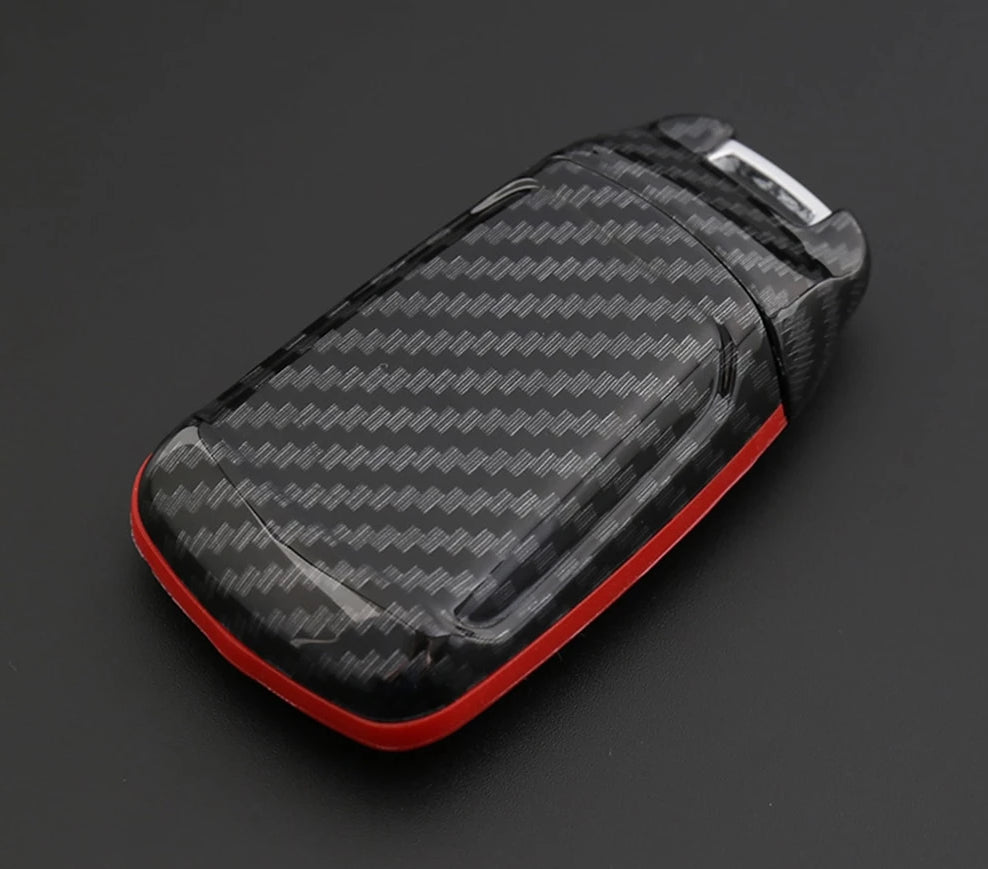 Smart Remote Key Case Shell Cover Carbon Fiber Look For Audi A4 B9 A5 S4 S5 8W Q7 4M Q5 TT TTS RS Coupe Roadster 2017 2018