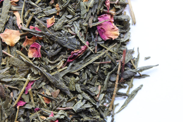 Green Tea Cherry Rose loose leaf