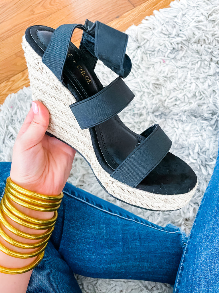 Just A Monday Wedge- Black