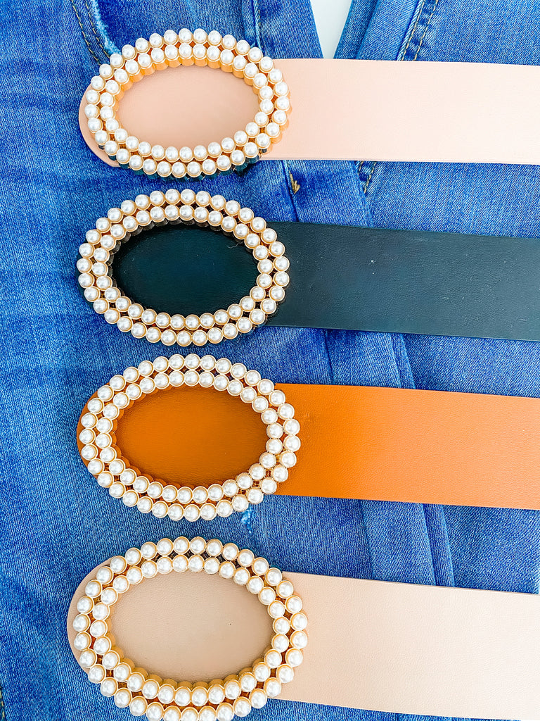 Oval Double Pearl Belt