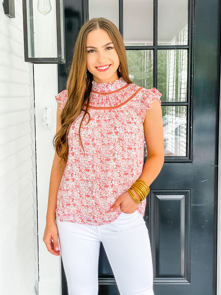 Sunday Morning Top- Blush Floral