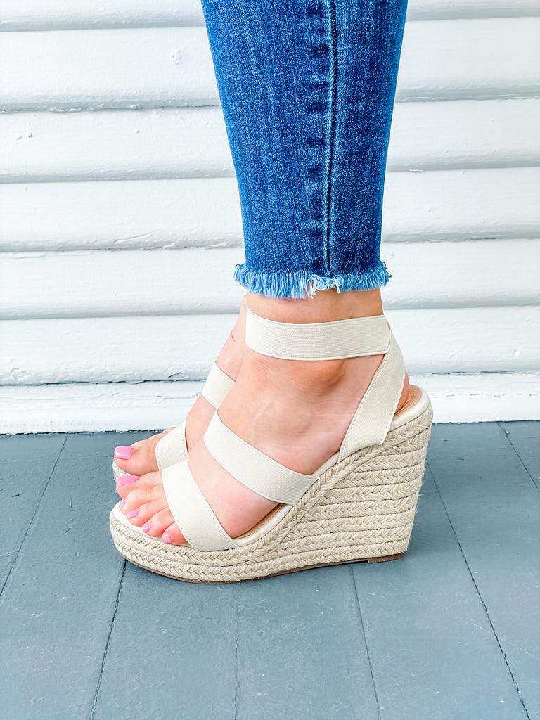 Just A Monday Wedge- Nude