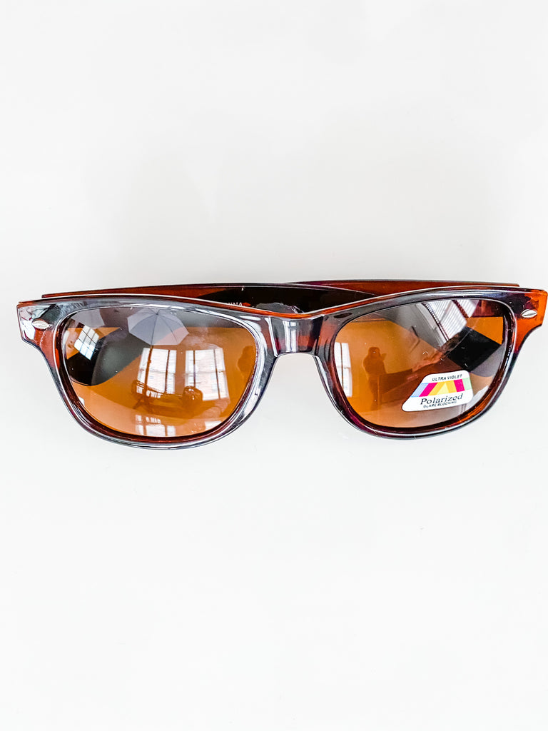 Polaroid Unisex Sunglasses- Brown