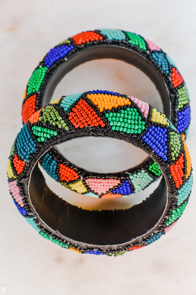 Beaded Aztec Chunky Bracelets- Multi