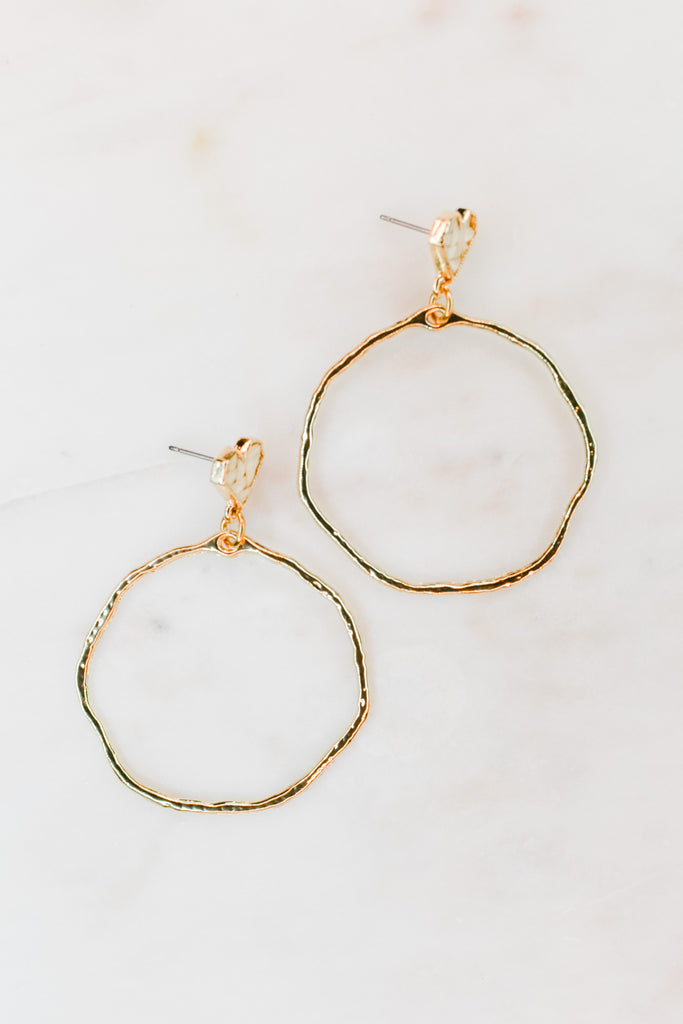 Marie Heart Hoop Earrings