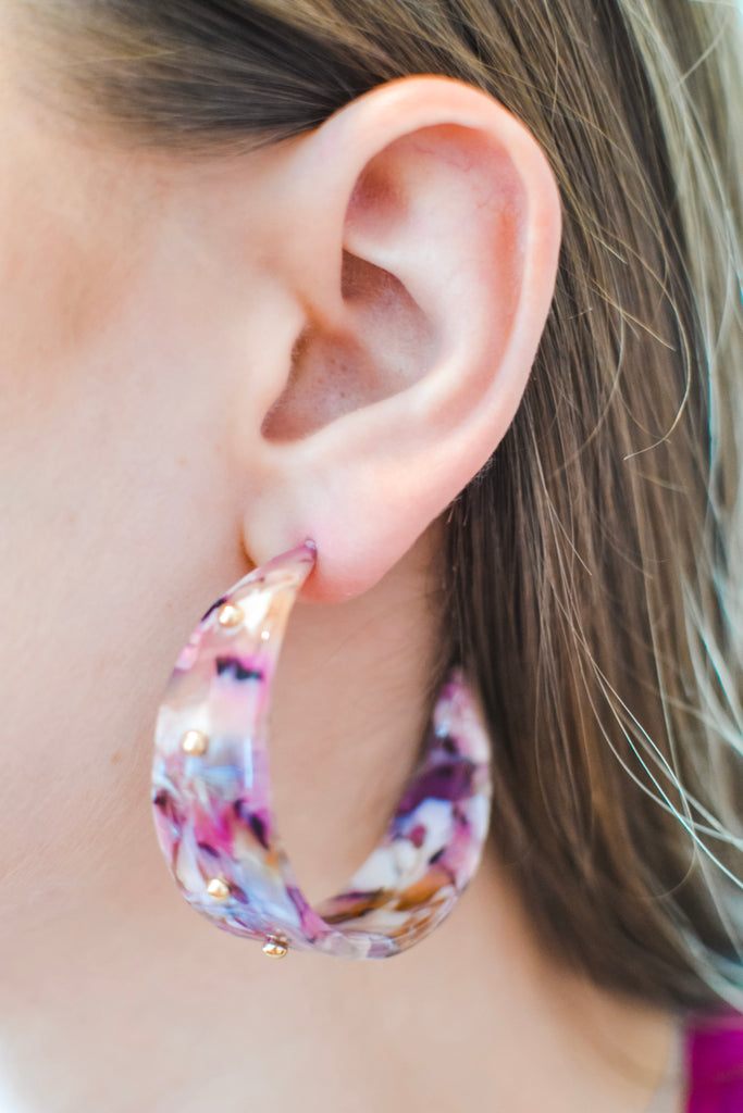 Look Away Earrings- Purple - Pomp & Circumstance