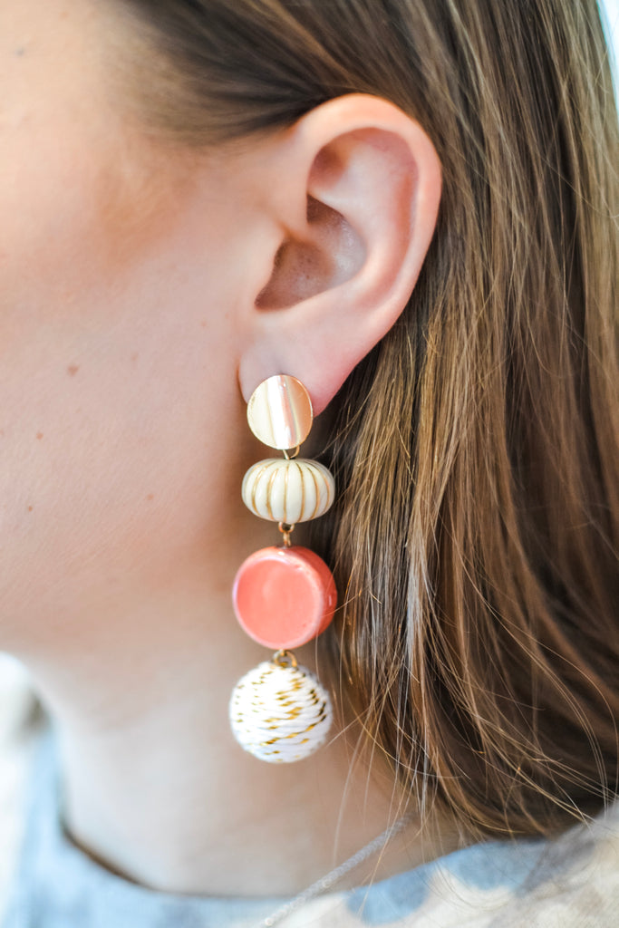 To Be Frank Earrings- White - Pomp & Circumstance