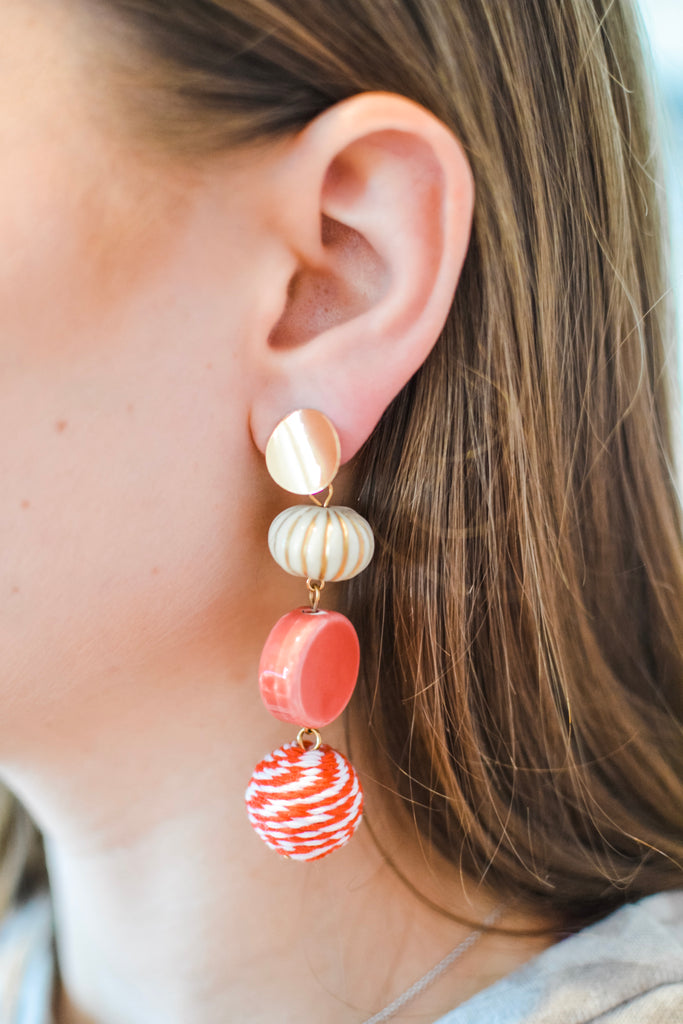To Be Frank Earrings- Red - Pomp & Circumstance