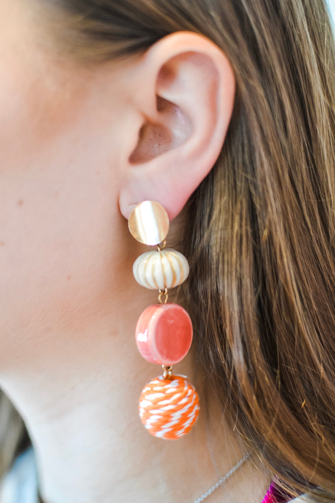 To Be Frank Earrings- Orange - Pomp & Circumstance