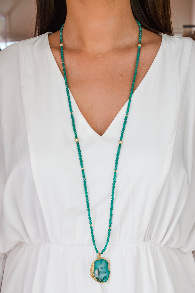 Bekah Layering Necklace- Green