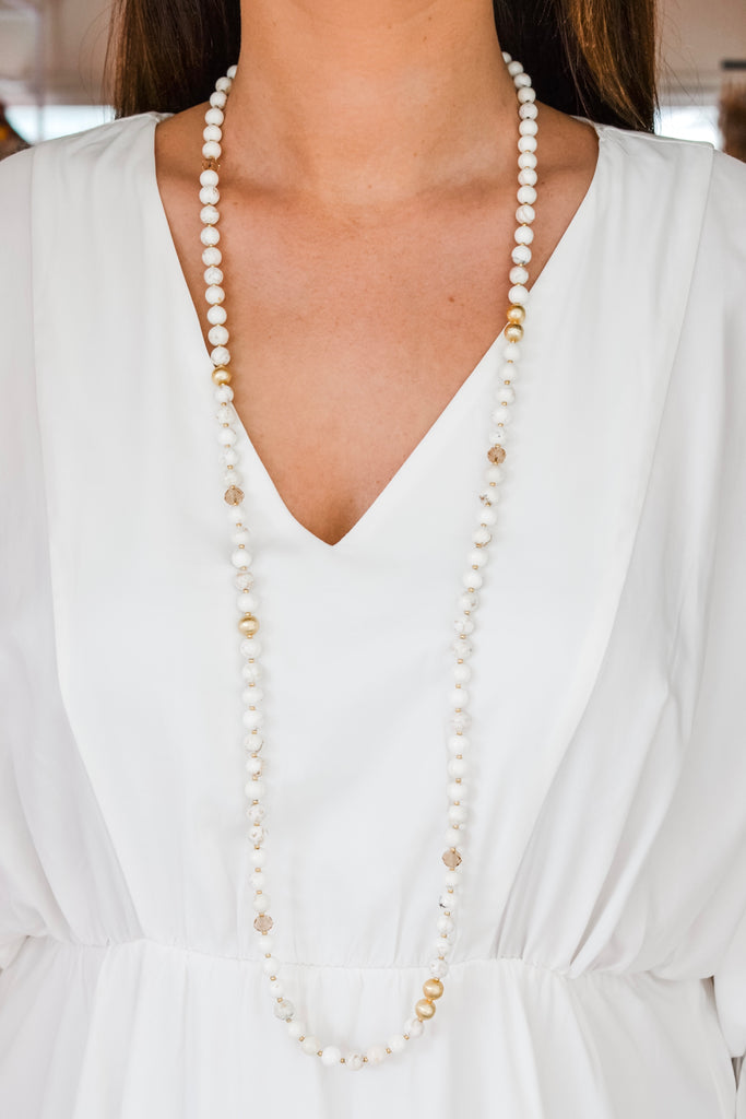 Leilani Layering Necklace- White