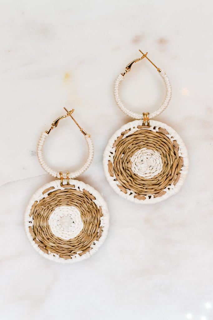 Jump Through Hoops Earrings- White