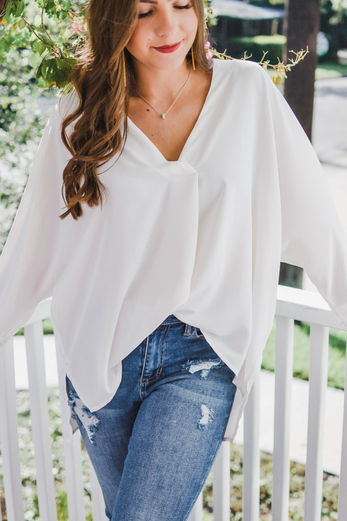 Take Me There Blouse- Off White