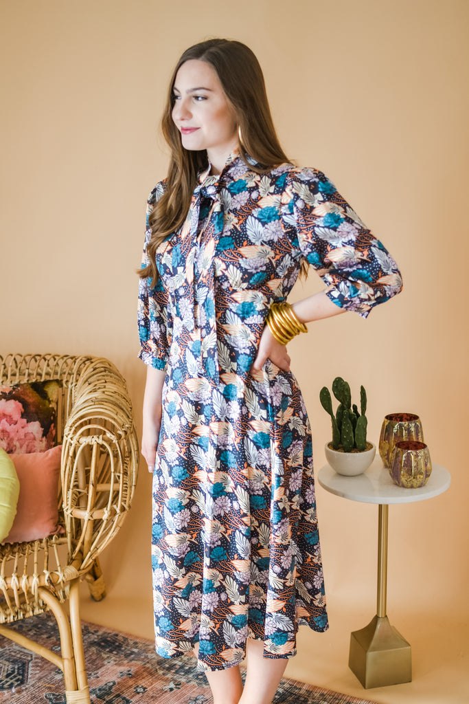 Winter Vacay Floral Dress - Pomp & Circumstance