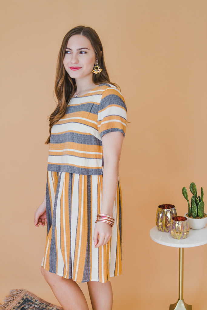 Sent With Love Striped Dress - Pomp & Circumstance
