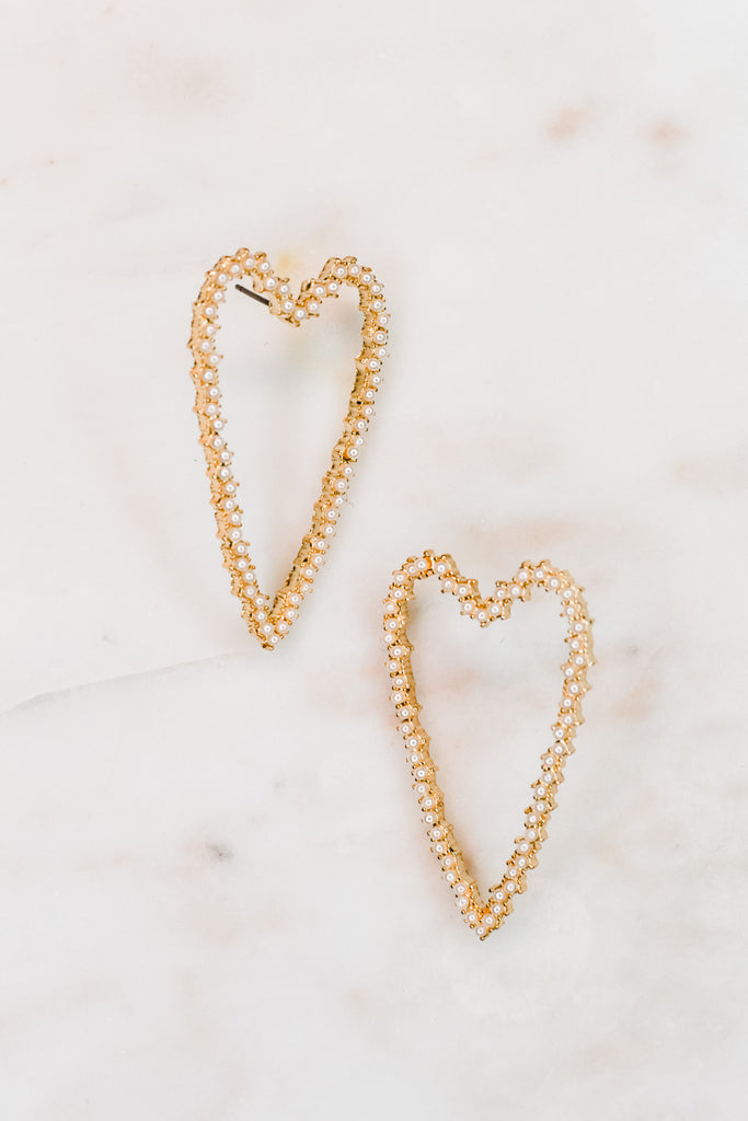 Long Heart Earrings - Pomp & Circumstance