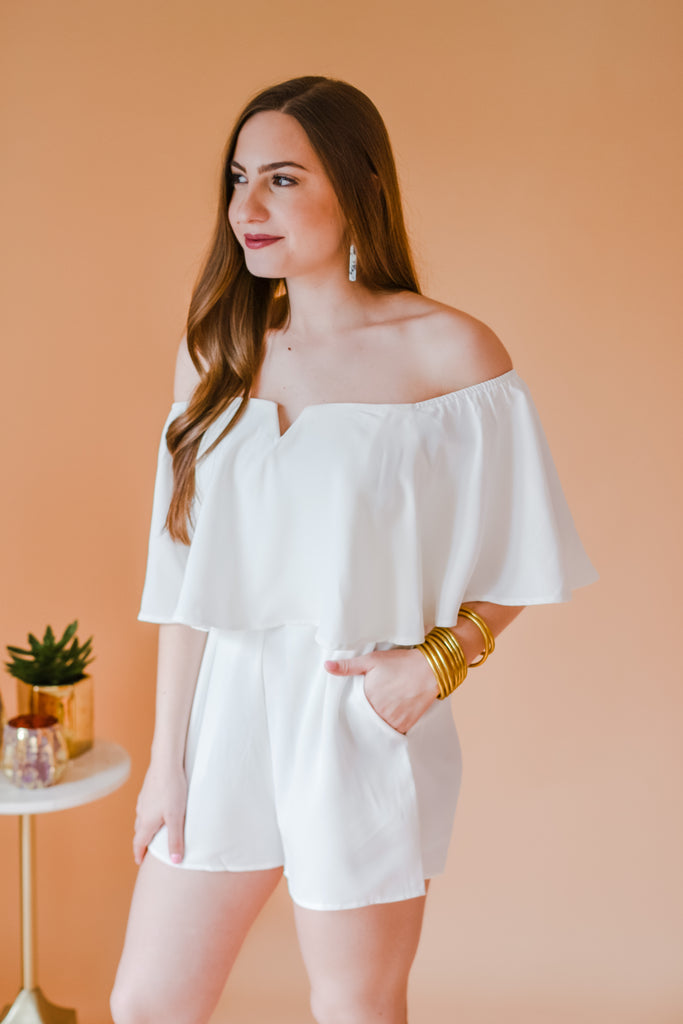 Shimmy and Shake Romper- White