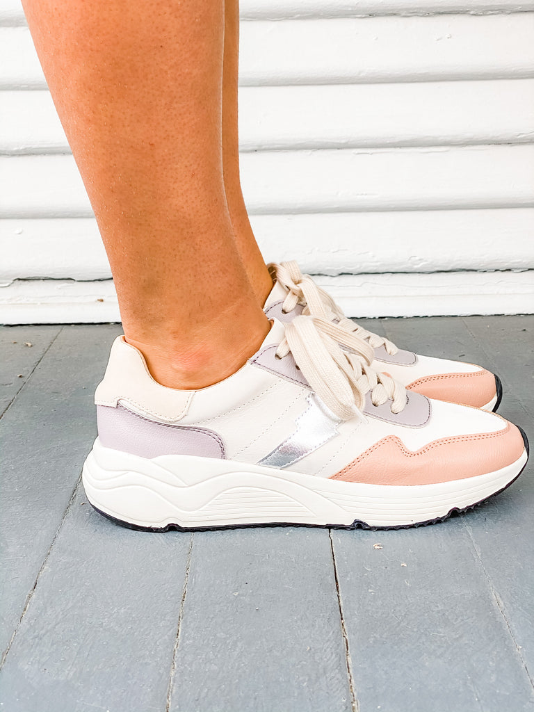Step Into It Sneaker- Peach