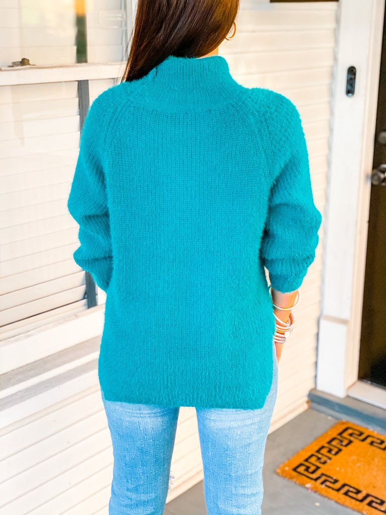 Here We Go Sweater- Green