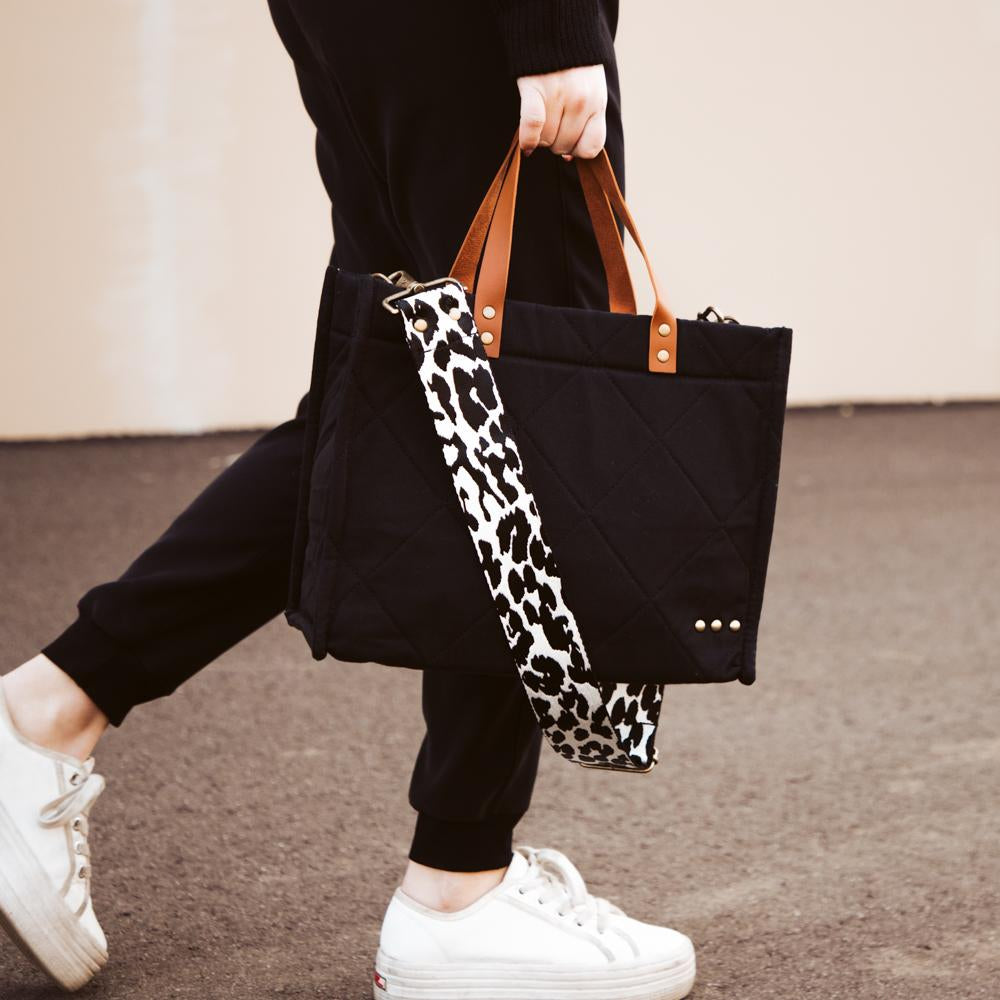PRE-ORDER: PS Canvas Bag Tote- Quilted Black***