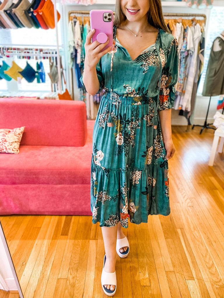 Touch Of Sage Midi Dress