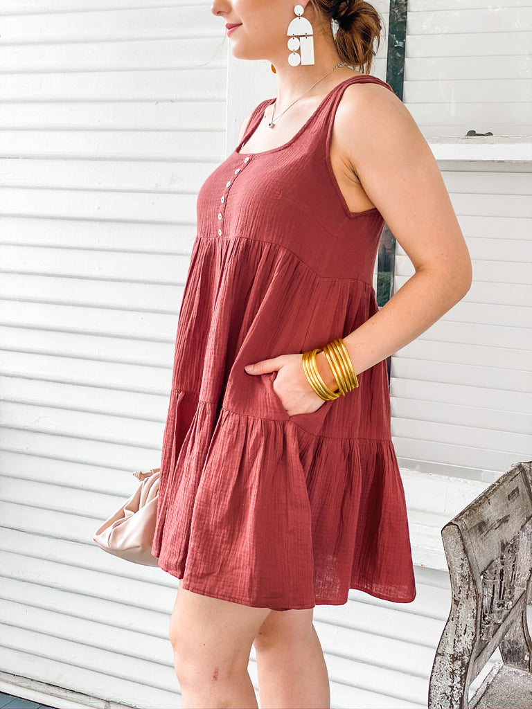 Scarlet Starlet Dress - Burgundy