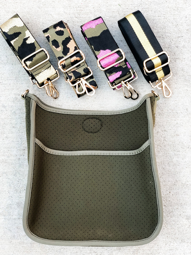 Neoprene Messenger - Taupe/Army***