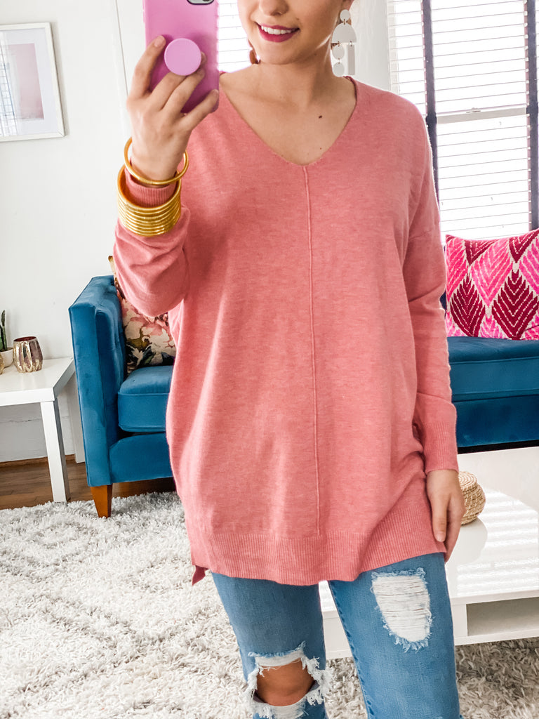 Hollywood Dreaming Sweater- Pink