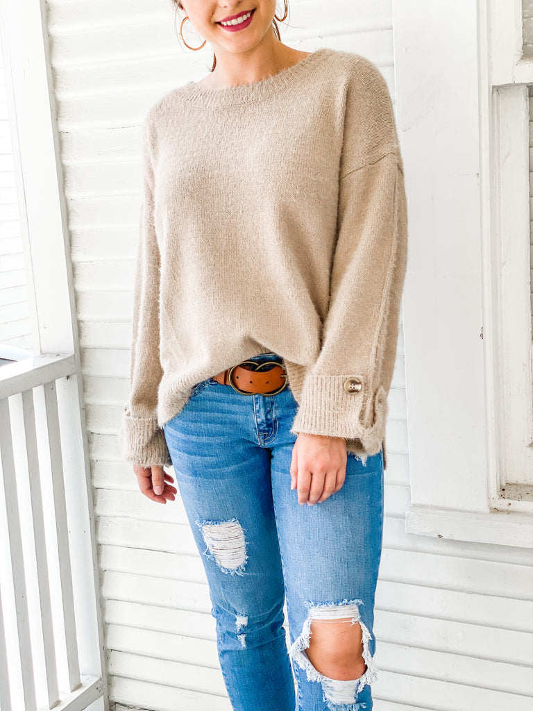 Into The Woods Sweater- Light Mocha