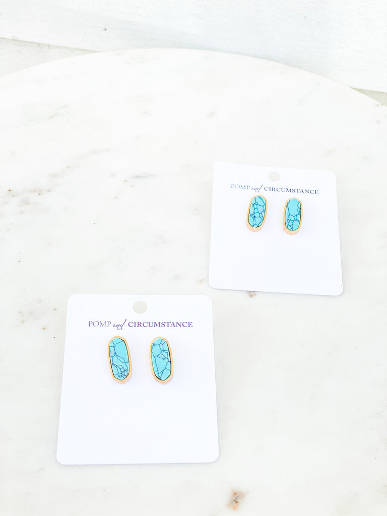 Dainty Everyday Stone Earrings***