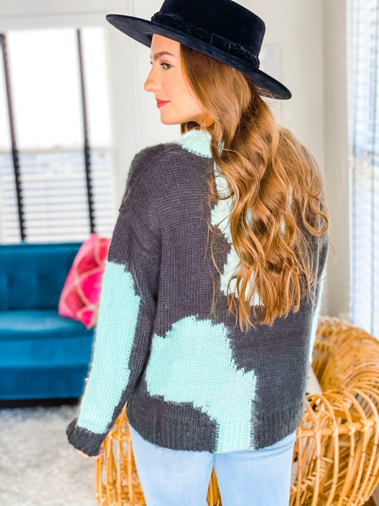 Miss This Sweater- Blue