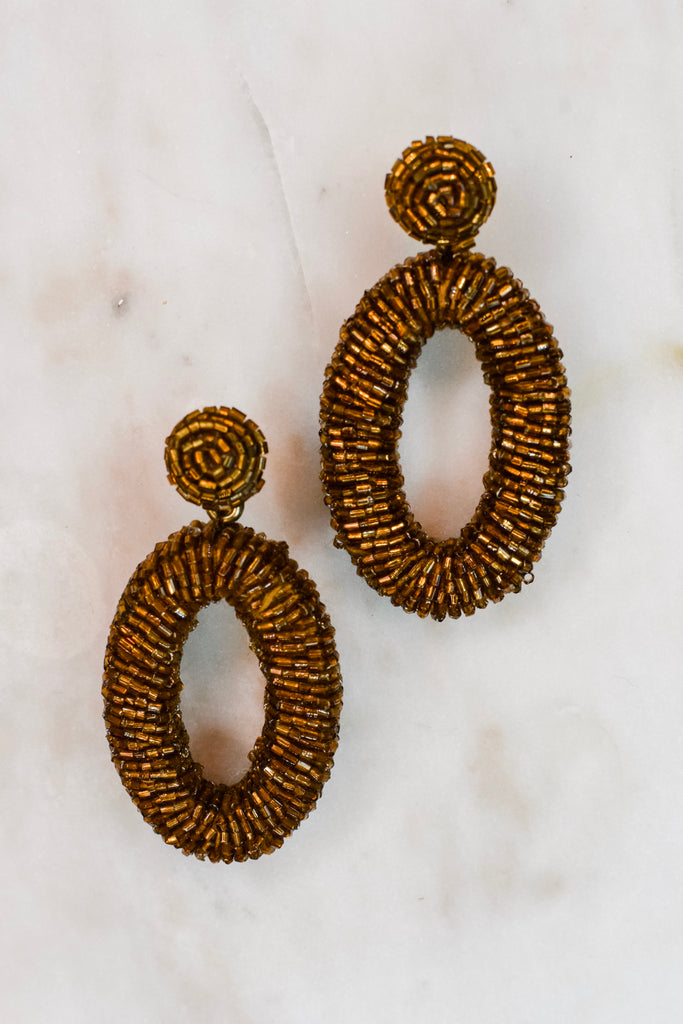 Look At Me Now Earrings- Copper - Pomp & Circumstance