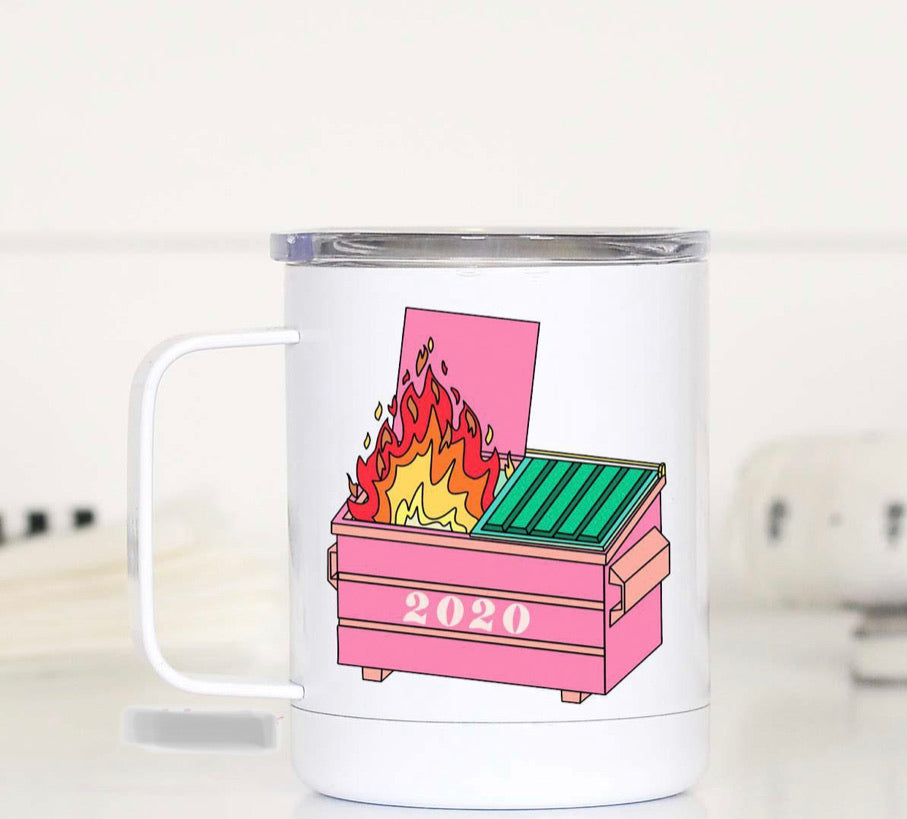 Dumpster Fire Travel Mug***