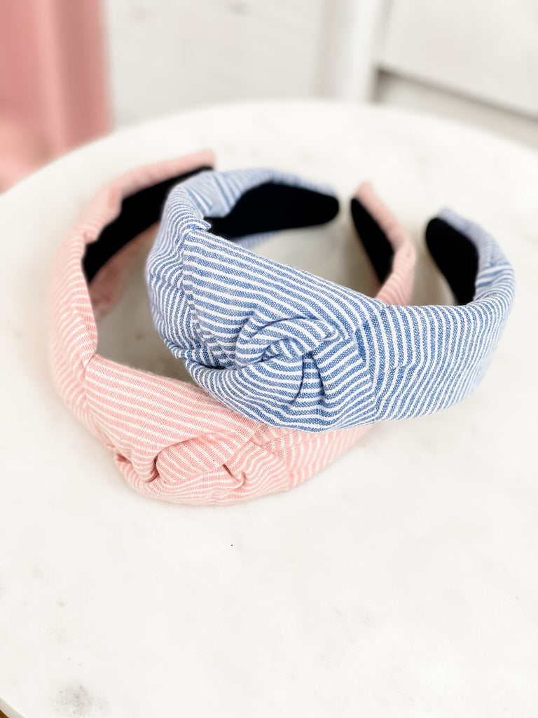 Stripe Top Knot Headbands