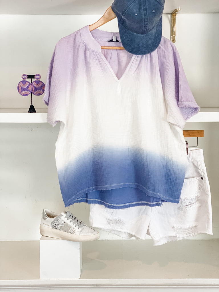 Over You Ombre Top