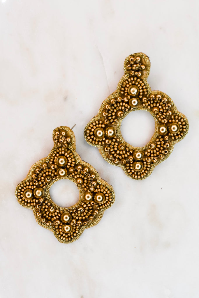 Cry For Me Earrings- Gold - Pomp & Circumstance