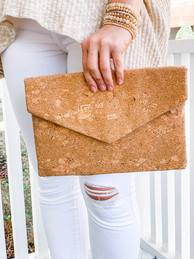 Cork Envelope Clutch