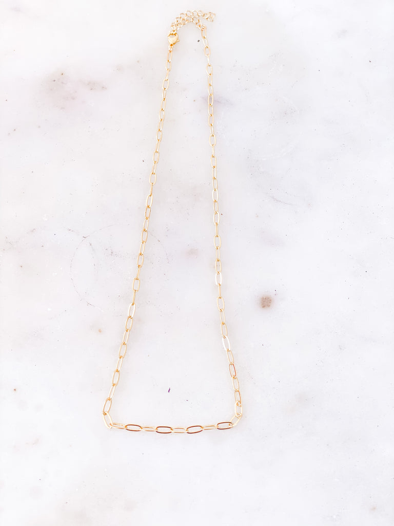 Small Gold Link Necklace