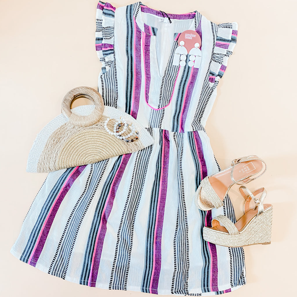 Take Me Out Striped Dress