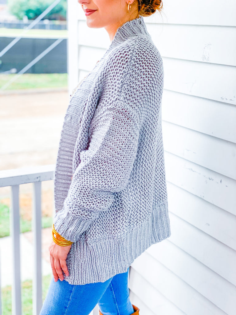 Just A Dream Cardigan - Gray