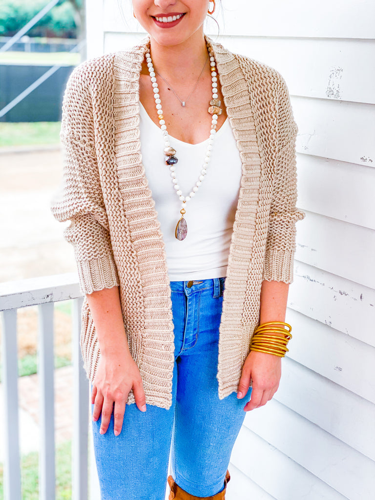 Just A Dream Cardigan - Taupe