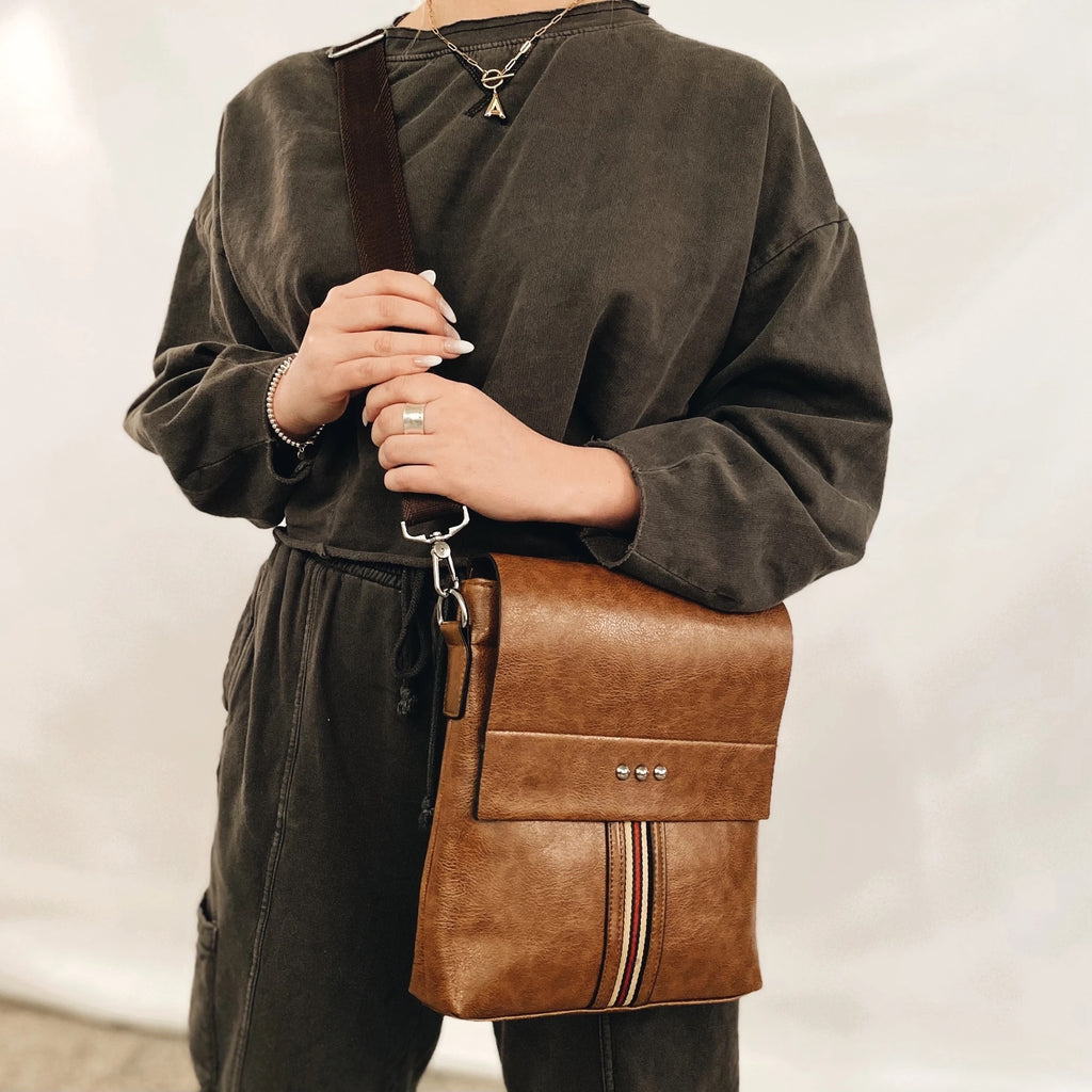 PRE-ORDER: Dakota Crossbody Bag- Brown