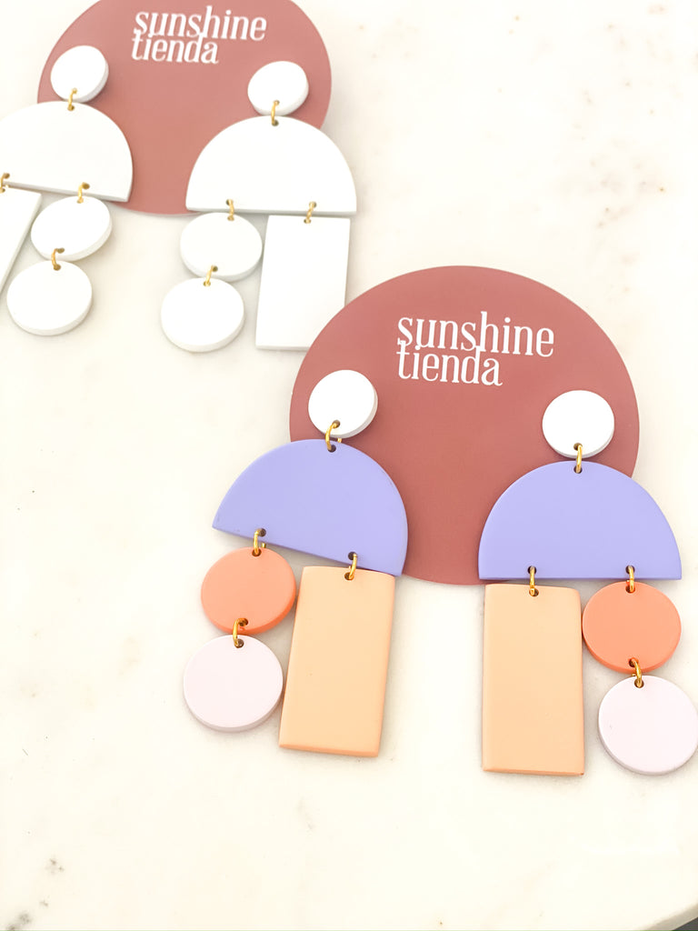 Matte Pastel Mobile Earrings