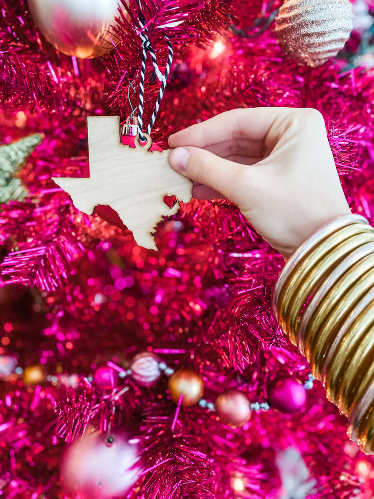 Wooden Texas Ornament***