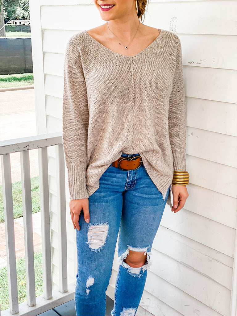 Unbelievable Sweater- Taupe