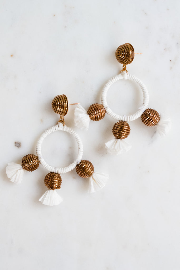 Just Say It Earrings- White