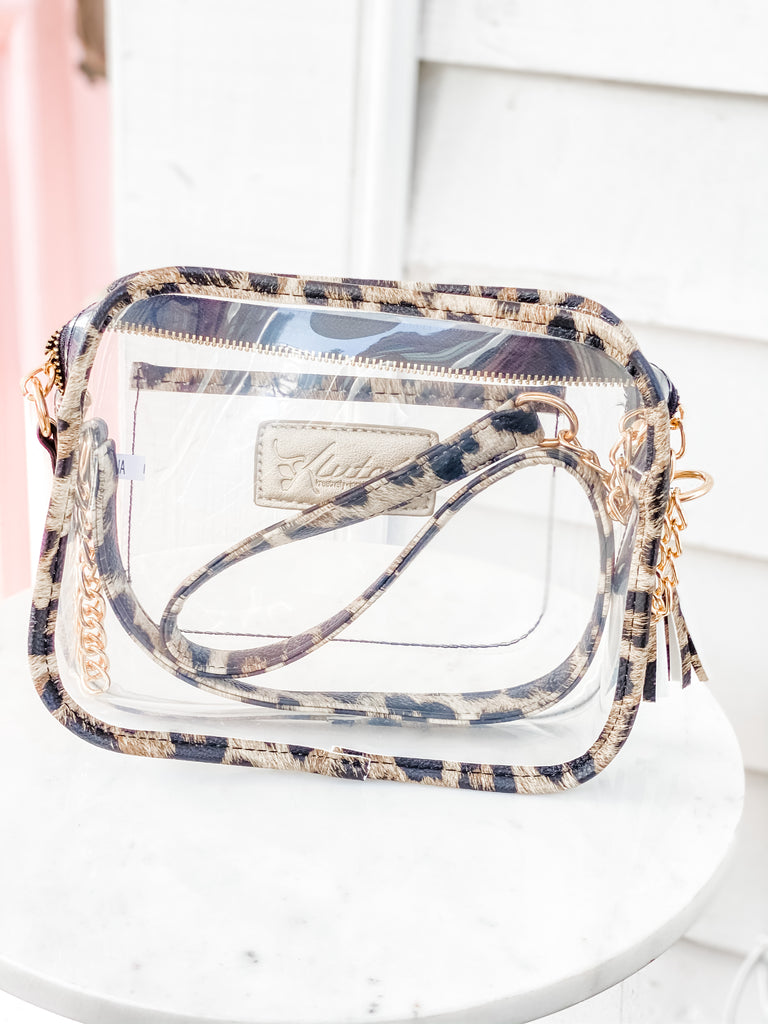 Clear Bag- Leopard