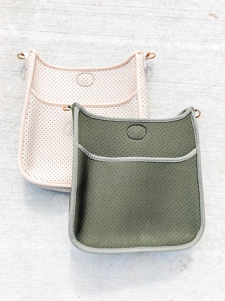 Neoprene Messenger - Taupe/Army*** - Pomp & Circumstance