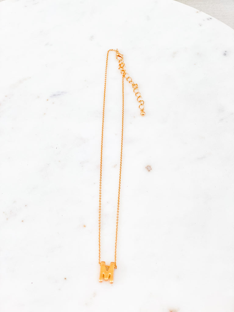 Initial Charm Necklace***